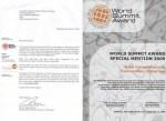 دریافت جایزه جهانی سران 2009 (WSA) و بهترین در محتوای الكترونیكی و خلاقیت